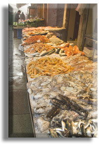 seafood at the Venice fish market