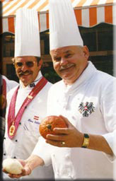 Two smiling Austrian chefs